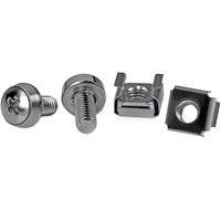StarTech.com 50 Pkg M6 Mounting Screws and Cage Nuts for Server Rack Cabinet - 100 / Pack