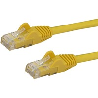 StarTech.com 15 ft Yellow Snagless Cat6 UTP Patch Cable - Category 6 - 15 ft - 1 x RJ-45 Male Network - 1 x RJ-45 Male Network - Yellow