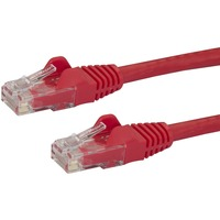 StarTech.com 25 ft Red Snagless Cat6 UTP Patch Cable - Category 6 - 25 ft - 1 x RJ-45 Male Network - 1 x RJ-45 Male Network - Red
