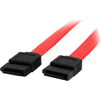 StarTech.com 6in SATA Serial ATA Cable - Male SATA - Male SATA - 6 - Red