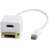 StarTech.com 1 ft Mini DVI to DVI-D & HDMI Splitter Cable - M/F - 1ft - 1 Pack