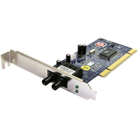 StarTech.com 100Mbps PCI Multi Mode ST Fiber Ethernet NIC Network Adapter 2km - PCI - 1 x ST Duplex Network - 100Base-FX - Internal - Low-profile