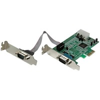 StarTech.com 2 Port Low Profile Native RS232 PCI Express Serial Card with 16550 UART - 2 x 9-pin DB-9 Male RS-232 Serial PCI Express