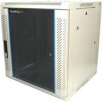 StarTech.com 12U 19in Hinged Wall Mount Server Rack Cabinet w/ Vented Glass Door - 19 12U