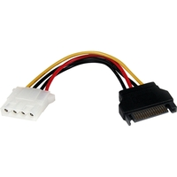 StarTech.com 6in SATA to LP4 Power Cable Adapter - F/M - Black