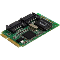 StarTech.com 2 Port Mini PCI Express Internal SATA II Controller Card - 2 x 7-pin Serial ATA/300 Serial ATA - PCI Express