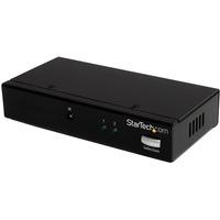 StarTech.com 2 Port DisplayPort Video Switch with Audio & IR Remote Control - Video Switchbox