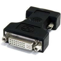 StarTech.com DVI to VGA Cable Adapter - Black - F/M - 1 x HD-15 Male VGA - Black