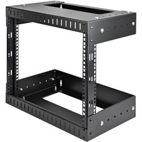 StarTech.com 8U Open Frame Wall Mount Equipment Rack - Adjustable Depth - 8U Wall Mounted