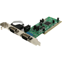 StarTech.com 2 Port PCI RS422/485 Serial Adapter Card with 161050 UART - 2 x 9-pin DB-9 Male RS-422/485 Serial Universal PCI