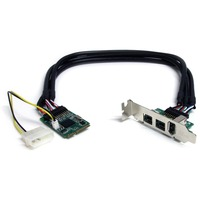 StarTech.com 3 Port 2b 1a 1394 Mini PCI Express FireWire Card Adapter - 1 x 6-pin Female IEEE 1394a FireWire External