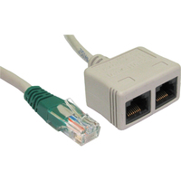 Cables Direct RJ-ECONDV Category 5e Network Cable for Network Device - 21 cm