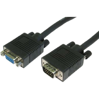 Cables Direct 1 x HD-15 Male VGA - 1 x HD-15 Female VGA - Extension Cable - Black