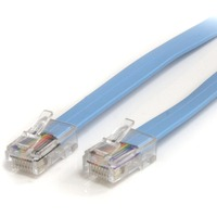 StarTech.com 6 ft Cisco Console Rollover Cable - RJ45 M/M - 1 x RJ-45 Male Network - Blue
