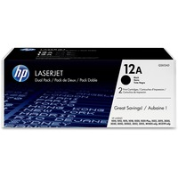 HP 12D Toner Cartridge - Black - Laser - 2000 Page - 2 / Box