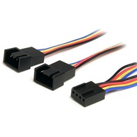 StarTech.com 12in 4 Pin Fan Power Splitter Cable - F/M - 0.31m - Molex - Molex