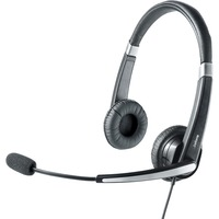 Jabra UC Voice 550 MS Duo Wired Stereo Headset - Over-the-head - Semi-open - Black - USB