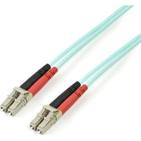 StarTech.com 2m 10 Gb Aqua Multimode 50/125 Duplex LSZH Fiber Patch Cable LC - LC - 2 x LC Male Network - 2 x LC Male Network - Aqua