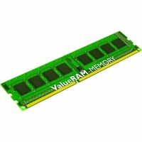 Kingston ValueRAM RAM Module - 8 GB (1 x 8 GB) - DDR3 SDRAM - 1333 MHz DDR3-1333/PC3-10600 - 1.50 V - ECC - Unbuffered - CL9 - 240-pin - DIMM