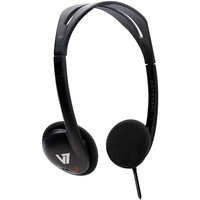 V7 HA300 Cable Stereo Headphone - Over-the-head - Ear-cup - Black
