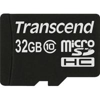 Transcend 32 GB microSDHC - Class 10 - 20 MB/s Read - 17 MB/s Write - 1 Card