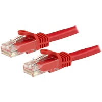 StarTech.com 15m Red Snagless Cat6 UTP Patch Cable - ETL Verified - 1 x RJ-45 Male Network - 1 x RJ-45 Male Network - Gold-plated Contacts - Red