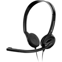 Sennheiser PC 36 Wired Stereo Headset - Over-the-head, Behind-the-neck - Semi-open - Black