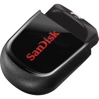 SanDisk Cruzer Fit 32 GB USB 2.0 Flash Drive - Black, Magenta