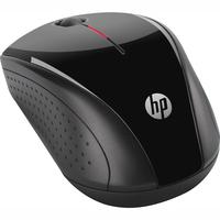 HP X3000 Mouse - Optical - Wireless - 3 Button(s) - Glossy Black, Metallic Grey - Radio Frequency - USB - Scroll Wheel