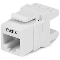 StarTech.com 180 degree Cat 6 Keystone Jack - RJ45 Ethernet Cat6 Wall Jack White - 110 Type