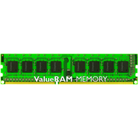 Kingston ValueRAM RAM Module - 8 GB 1 x 8 GB - DDR3 SDRAM - 1600 MHz DDR3-1600/PC3-12800 - 1.50 V - ECC - Unbuffered - CL11 - 240-pin - DIMM