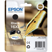 Epson DURABrite Ultra 16XL Ink Cartridge - Black - Inkjet - 500 Page - 1 Pack