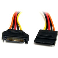 StarTech.com 12in 15 Pin SATA Power Extension Cable - 12 - SATA