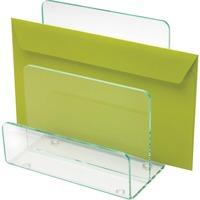 Llr80659 Lorell Acrylic Mini File Sorter Desktop Clear Green Acrylic 1each Office Supply Hut