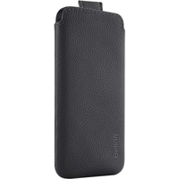 Belkin Pocket Carrying Case for iPhone - Black - Polyurethane Leather - Pebble Grain Texture