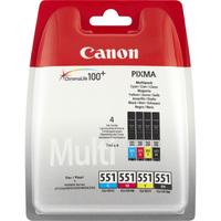 Canon CLI-551 Ink Cartridge - Black, Cyan, Magenta, Yellow