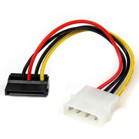 "StarTech.com 6in 4 Pin Molex to Left Angle SATA Power Cable Adapter - 6"" - LP4 - SATA"