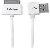 StarTech.com 1m (3 ft) Apple Dock Connector to Left Angle USB Cable for iPod / iPhone / iPad with Stepped Connector