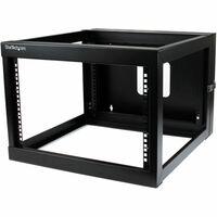 StarTech.com 6U 22in Depth Hinged Open Frame Wall Mount Server Rack - 49.90 kg x Maximum Weight Capacity