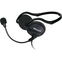 Microsoft LifeChat LX-2000 Wired Stereo Headset - Behind-the-neck - Supra-aural - Black - Mini-phone