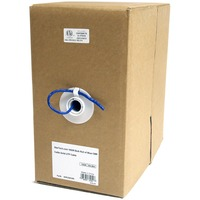 StarTech.com 1000 ft Bulk Roll of Blue CMR Cat5e Solid UTP Cable - Category 5e for Network Device - 1000ft - Bare Wire