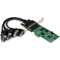 StarTech.com 4 Port PCI Express PCIe Serial Combo Card - 2 x RS232 2 x RS422 / RS485 - PCI Express x1 - 4 x DB-9 Male RS-232/422/485 Serial Via Cable - Plug-in Card