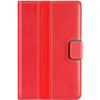 """Belkin Carrying Case (Folio) for 17.8 cm (7"""") Tablet PC - Red - Polyurethane - Stripe - Hand Carry"""
