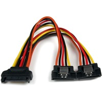 "StarTech.com 6in Latching SATA Power Y Splitter Cable Adapter - M/F - 6"" - SATA - SATA"