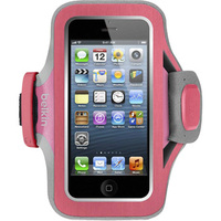 Belkin Slim Fit Carrying Case (Armband) for iPhone - Pink, Purple - Neoprene - Armband