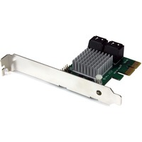 StarTech.com 4 Port PCI Express 2.0 SATA III 6Gbps RAID Controller Card with HyperDuo SSD Tiering - RAID Supported - JBOD, 1, 0, 1+0 RAID Level - 4 Total SATA Port(s