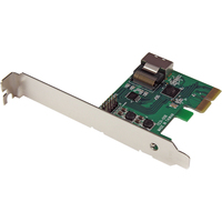 StarTech.com PCI Express SATA III RAID Controller Card with Mini-SAS Connector (SFF-8087) - HyperDuo SSD Tiering - RAID Supported - JBOD, 0, 1, 0+1 RAID Level - 4 To
