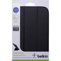 "Belkin Tri-Fold Carrying Case (Folio) for 20.3 cm (8"") Tablet - Black - Genuine Leather, Polyurethane"