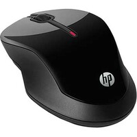 HP X3500 Mouse - Optical - Wireless - 3 Button(s) - Glossy Black, Metallic Grey