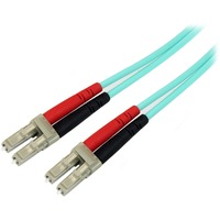 StarTech.com 10m 10 Gb Aqua Duplex LSZH Fiber Patch Cable LC-LC - 2 x LC Male Network - 2 x LC Male Network - Patch Cable - Aqua